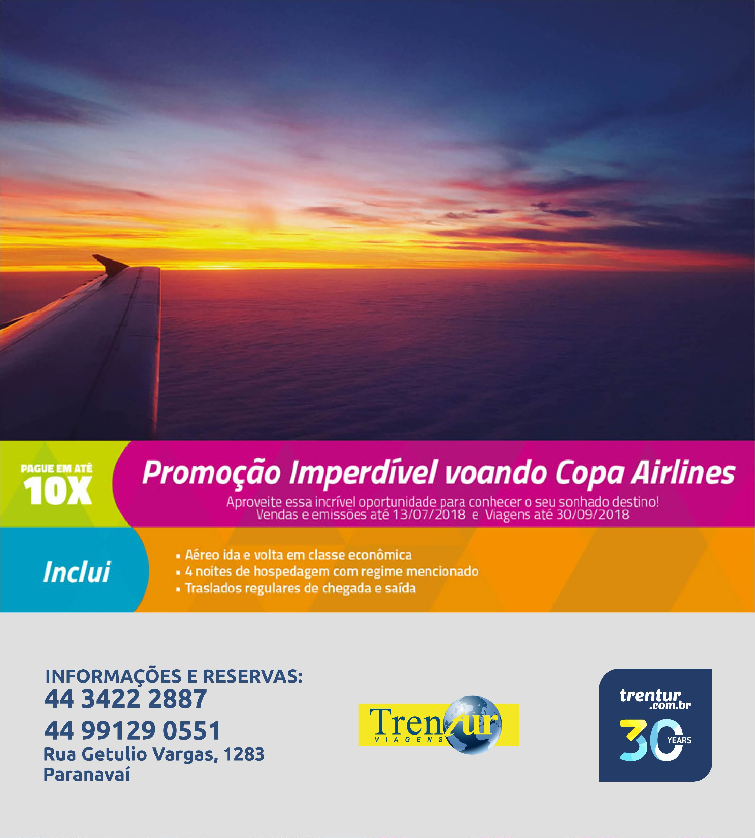 Promoção Imperdível voando Copa Airlines 670945eb83ad6